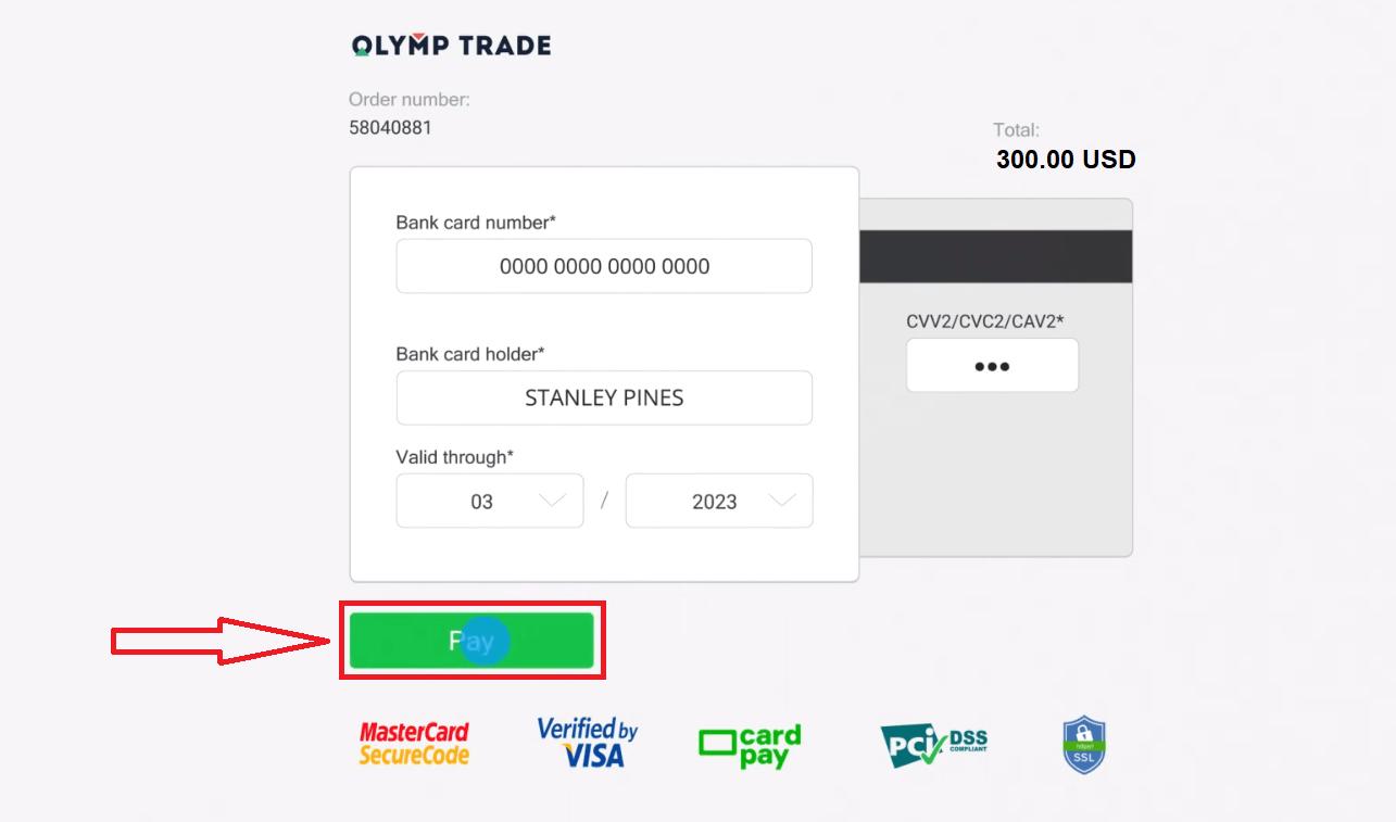 วิธีการฝากเงินใน Olymp Trade